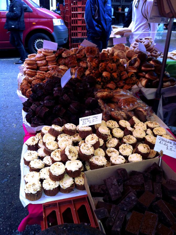 Pâtisseries du marché de Portobello